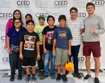 Mission junior high students who participated in the recent SEAD Academy (photo Mission EDC)