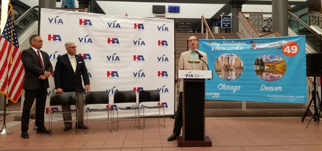 Officials announce Frontier Airlines new service to Valley International Airport