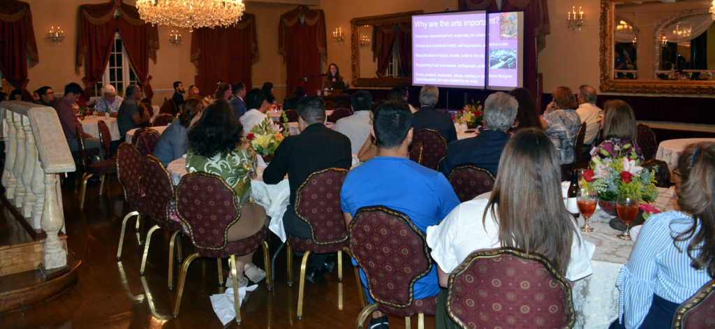 "Many came out to the Villa de Cortez in downtown Weslaco Aug. 30 to start a conversation as well as learn about development with ""The Future of Downtown."""