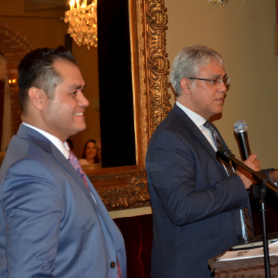 Pedro Ayala of BUILDrgv and Weslaco EDC Director Steven Valdez