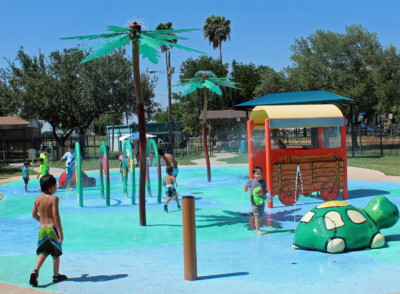 The splash pad at Lon C. Hill Park is part of extensive improvements to make the Harlingen facility a destination park for Valley residents. (VBR)