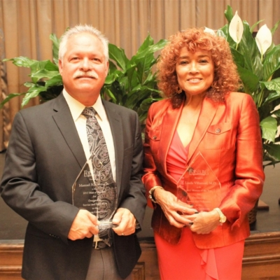 2017 Man and Woman of the Year Manuel Cantu and Dr. Linda Villareal