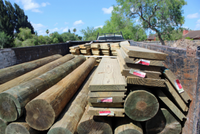 Treated lumber is the most common material used to build resaca retaining walls, although some property owners will spend more to use concrete. (VBR)
