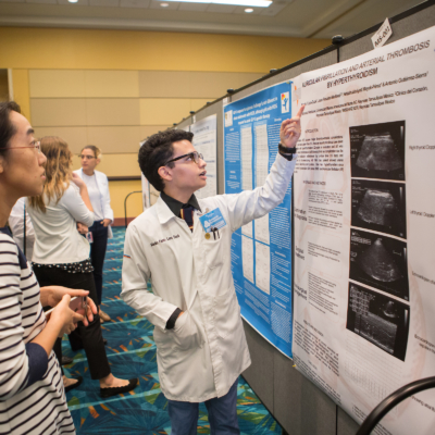 Students are able to show their research at the School of Medicine Research Symposium. (photo Silver Salas, UTRGV)