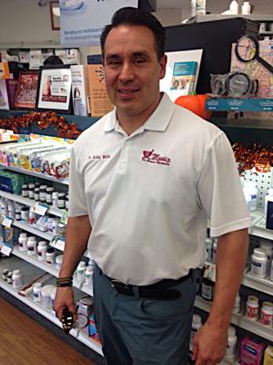 Muniz Rio Grande Pharmacy owner Bobby Muniz in his Harlingen store. (VBR)