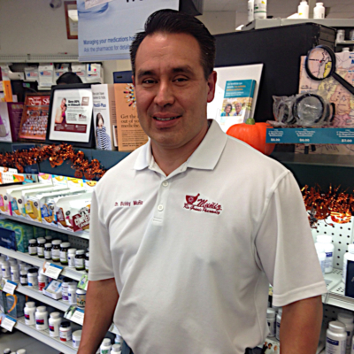 Muniz Rio Grande Pharmacy owner Bobby Muniz in his Harlingen store. (VBR)