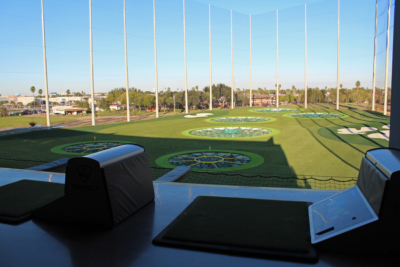 The view from Topgolf's third and highest level. (VBR)