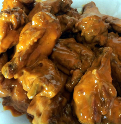 Wing Barn offers chicken wings coated with one of 18 sauces created by the owners. (VBR)