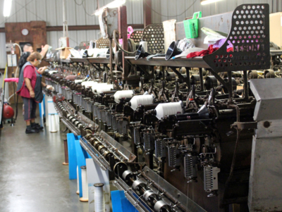 The technology of making thread has not changed much over the years. Original patents for some machines were issued more than a century ago. (VBR)