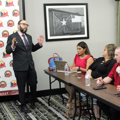 Salvador Contreras, director of UTRGV's Center for Border Economic Studies, summarizes his findings in a 2019 economic forecast for the Rio Grande Valley. (VBR)