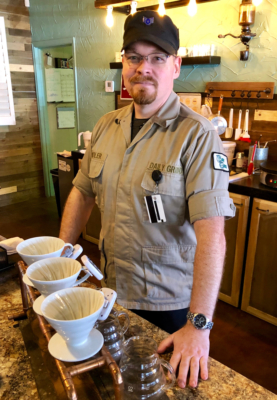 U.S. Air Force veteran Adam Shidler started Weslaco's Daily Grind coffee shop as a community gathering-place with good coffee. (VBR)