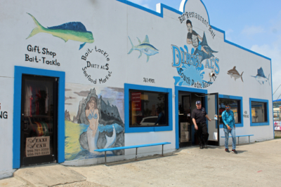 The original Dirty Al's seafood restaurant is located in a marina on the south end of South Padre Island. (VBR)
