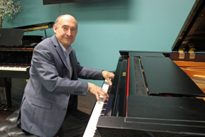 Matt Perez and his wife, Debra, operate Valley Keyboards in McAllen with a passion for music. (VBR)