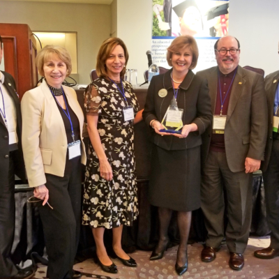 South Texas College President Shirley A. Reed receives the Pioneer Award for her leadership. (photo STC)