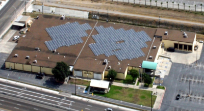 A large solar panel array was installed on the roof of the Cameron County Annex building in San Benito. (Courtesy)