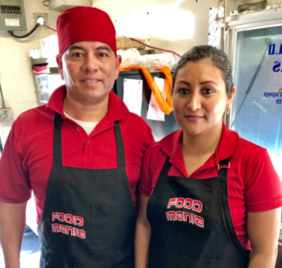 The husband and wife team of Gonzalo Martinez and Connie Chavirra opened their food truck business two years ago. (VBR)