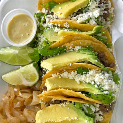 Street tacos Tampico style are among the most popular menu items on the Food Mania restaurant on wheels. (VBR)