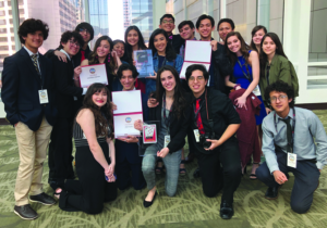 Students from McAllen ISD's Video Production course at the Student Television Network National Contest held March 27-31. KMAC won two first-place awards and one fourth-place prize.