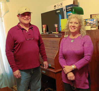 Andrew and Jane Smith, owners of Estate Sales by Riverzedge, at a recent estate sale in Mission (VBR)