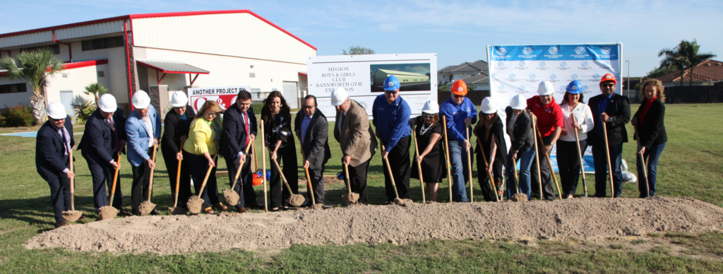 Mission community leaders joined together for the groundbreaking for the expansion of the city's Bannworth Gym into a full Boys & Girls Club. (Courtesy)