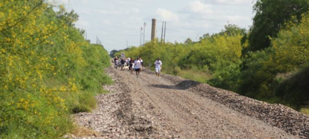 The Brownsville West Rail Trail is still under construction but the newest hike-and-bike trail is already being used by joggers. (Courtesy)