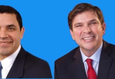Congressmen Henry Cueller and Vicente Gonzalez