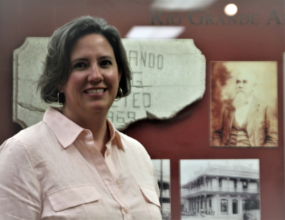 Brownsville Historical Association Executive Director Tara Putegnat talks about the cultural centers she manager. (VBR)