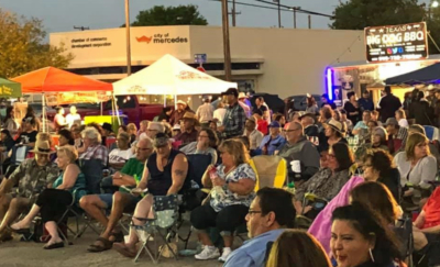 Residents and businesses turn out in downtown Mercedes to enjoy country music at Little Nashville. (Courtesy)