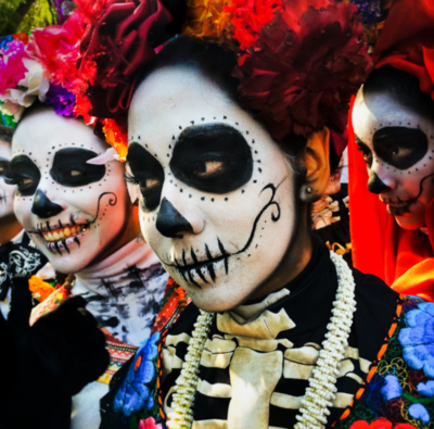 Festival-goers may dress up in the style of catrinas, associated with the colorful costumes and painted faces seen at Dia de los Muertes celebrations. (Courtesy)