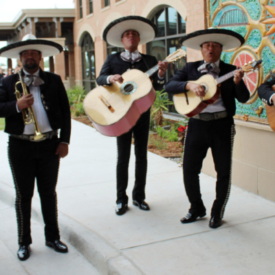 Mariachis added a festive atmosphere to welcome guests for the dedication of the $17.6-million convention center.