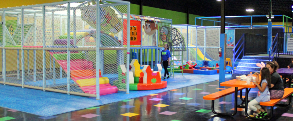 The toddler area and seating where parents can watch their children have fun. (VBR)