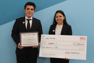 RGV Lead Young Entrepreneurship Challenge first place