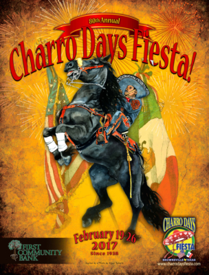 A 2017 Charro Days poster by Don Breeden is one of more than 20 he has created for the Brownsville festival. (Don Breeden)