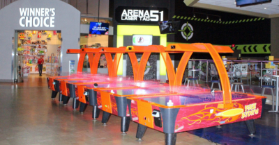 Not only is air hockey at Main Event, but laser tag is also one of the many choices for some fun. (VBR)