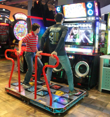 This dancing game is just one of the selections that can be found in the arcade at Main Event. (VBR)