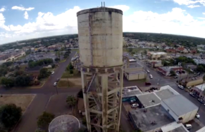 Weslaco's enduring landmark, the El Tinaco water tower