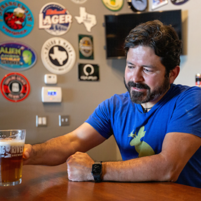 Steve Padilla, UTRGV legacy alum, and owner of Big River Brewery. (photo, Paul Chouy, UTRGV)
