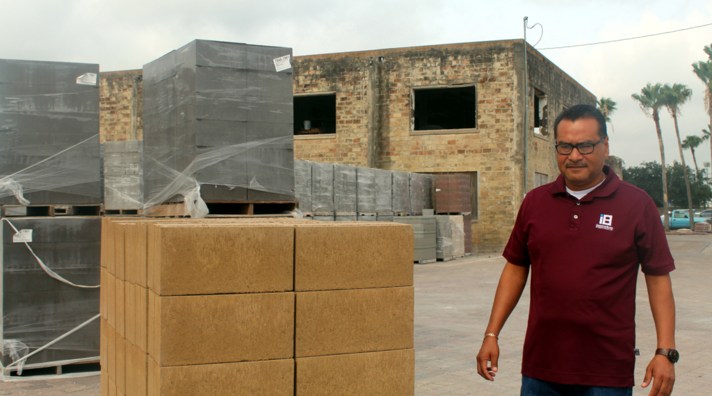 IBST Plant manager Armando Trevino talks about the business of making construction blocks.