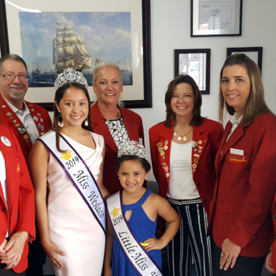 Weslaco Chamber Ambassadors with Miss Weslaco 2019 Daisy Ramirez and Little Miss Weslaco 2019 Stella Silva. Ambassadors are Marisol Nuñez, Davis Equity Real Estate; Daryl Smith, Smith Security Group; Flo Lasater, Davis Equity Real Estate; Carla McCaleb, McCaleb Funeral Home; Sandra Charlton, CPA and Beverly Madden, Davis Equity Real Estate.
