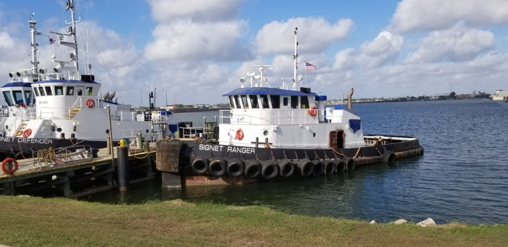 Signet Maritime's fleet at the Port of Brownsville includes three tugboats, the Signet Defender, Signet Ranger and the Signet Magic. (photo Port of Brownsville)