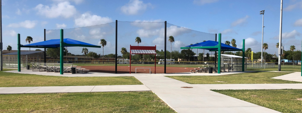 One of the new six fields now available for games at the McAllen Municipal Softball Complex.