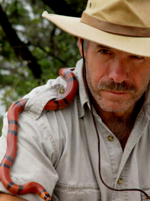 Danny Conner and his live reptiles are among the many educational entertainers at ECO-RIO.