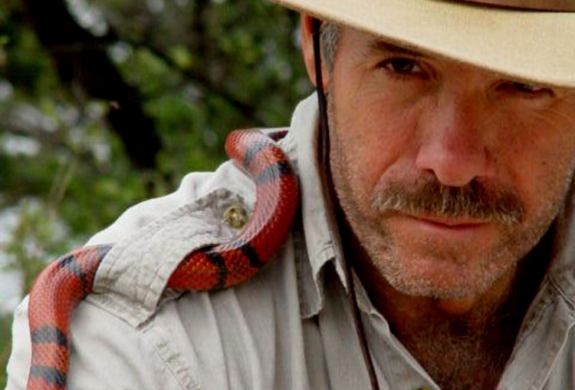 Danny Conner and his live reptiles are among the many educational entertainers atECO-RIO.