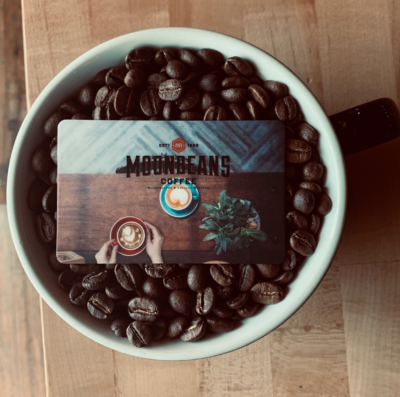 Freshly roasted coffee beans are ground in house and used for Moonbean Coffee's espresso in every cup.