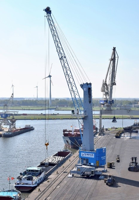 The Port of Brownsville's new Model 6 cranes will feature a powerful lifting curve with a maximum lifting capacity of 125 tons. (photo Port of Brownsville)