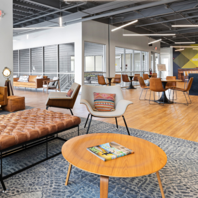 Venture X Harlingen boasts 5,000 square feet of open shared space, including an outdoor patio. There are personal touches too, with a popcorn service at 3 p.m. to get people out of their offices and away from their desks for a quick mental and social break.