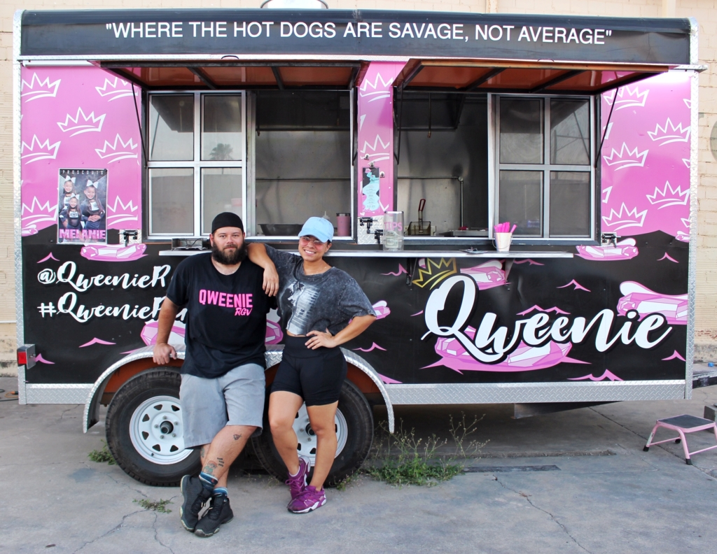 Qweenie owners Bryan Nunn and Kimberly Avila pop up at different businesses around the RGV. Here they are at Weslaco's Daily Grind.
