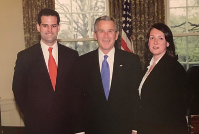 Cramer Miller and Annie Holand in the Oval Office with President George W. Bush in 2006. (Courtesy)