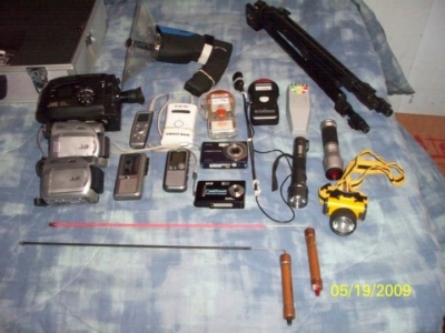 Some of the equipment RGV Paranormal Investigations uses to look for ghosts. (photo RGV Paranormal Investigations)