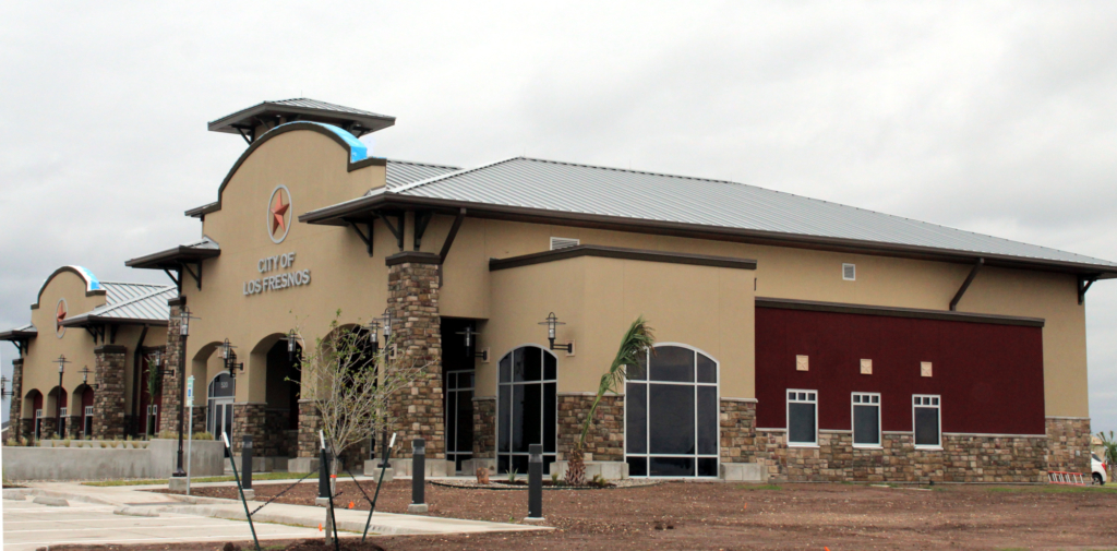The new City Hall in Los Fresnos, complete after a year of construction.